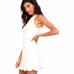 NWT LULUS Favorite Feeling Ivory White Mini Dress